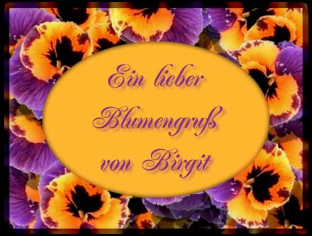 Gästebuchbild Blumengruß, aus Rahmen GB Bild erstellen