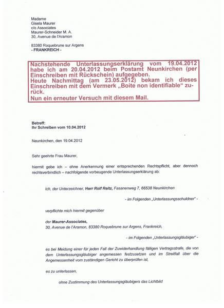 1 2 - Strafbewehrte Unterlassungserklarung Muster