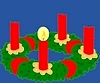 Adventkranz Weihnachten - Ferienhäuser Ferienwohnungen Insel Murter Dalmatien Kroatien