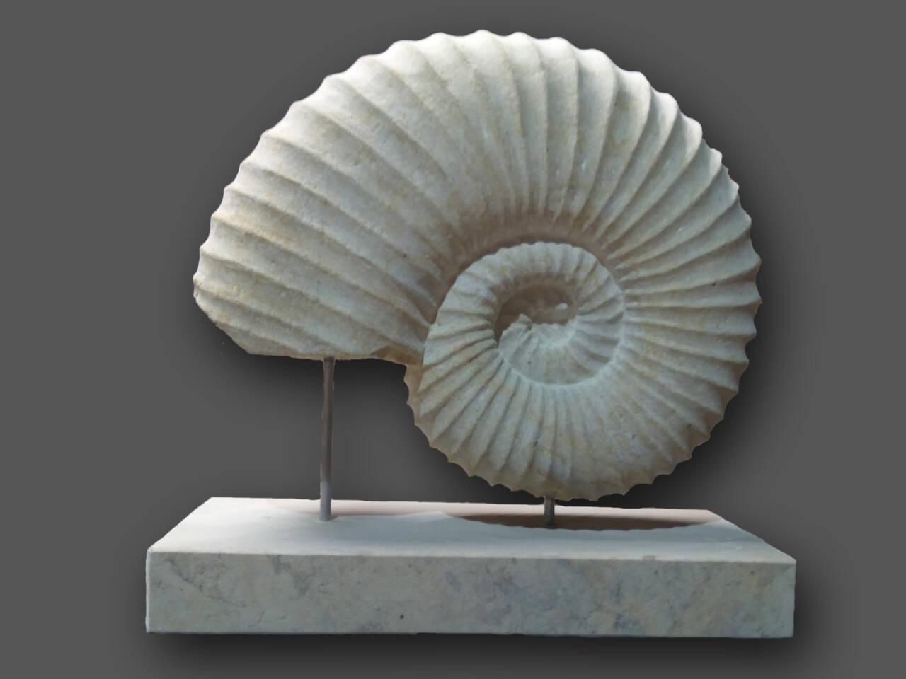Skulptur Nachbildung Ammonit