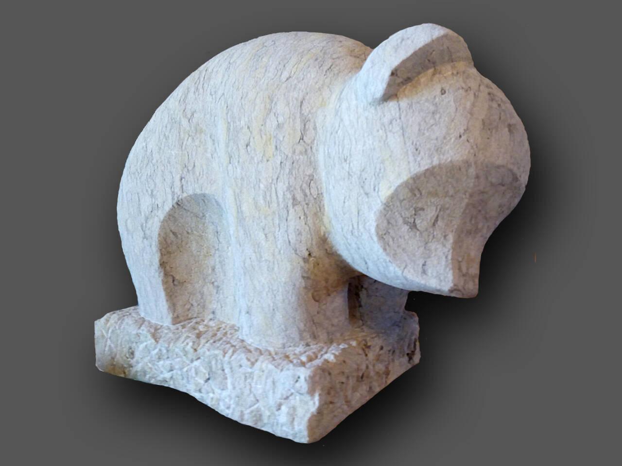 Skulptur Bär, abstrakt