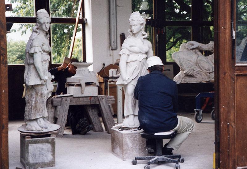 Bildhauer Frank Döhler, Kopie und Original der Delila