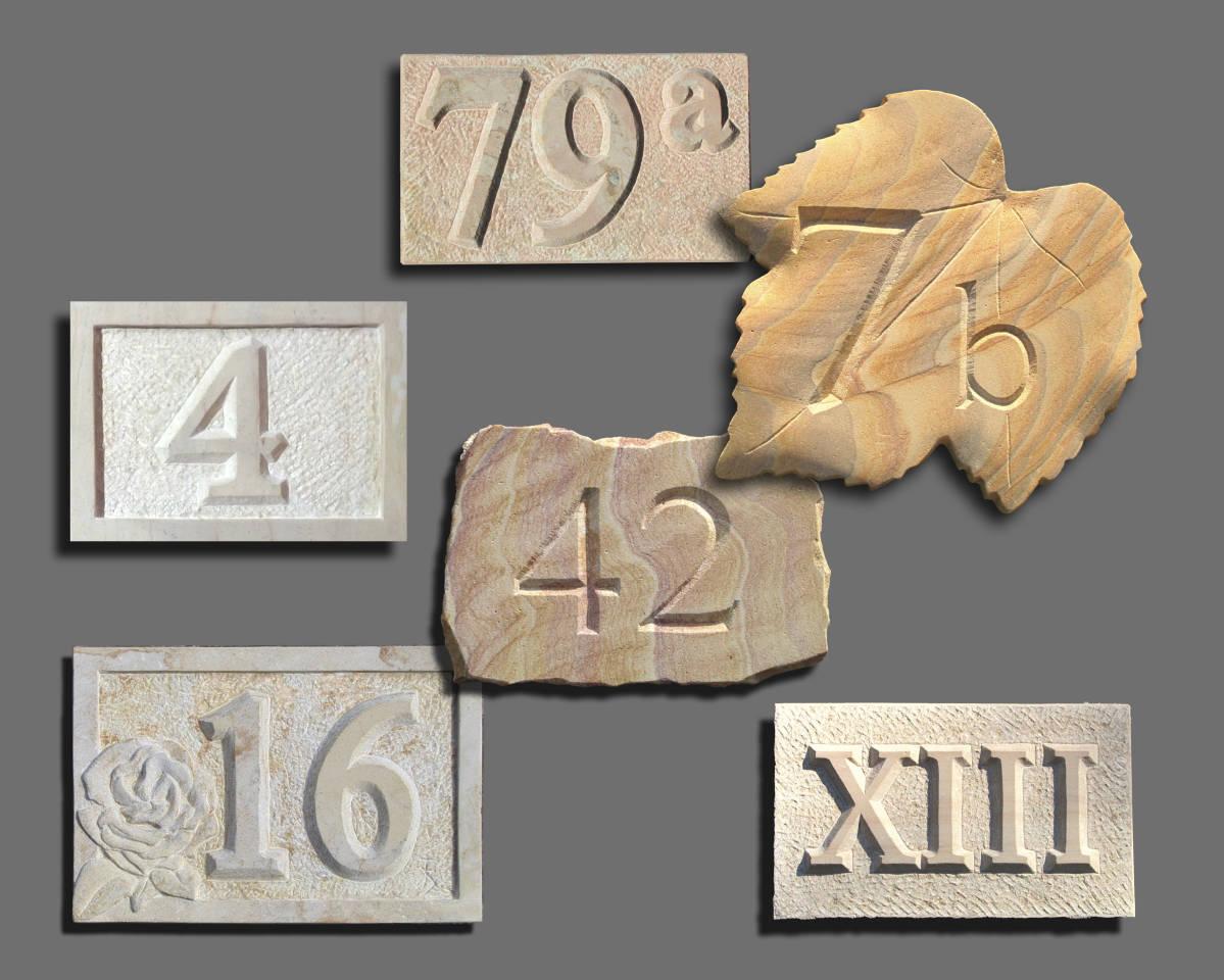 Individuell gefertigte Hausnummern