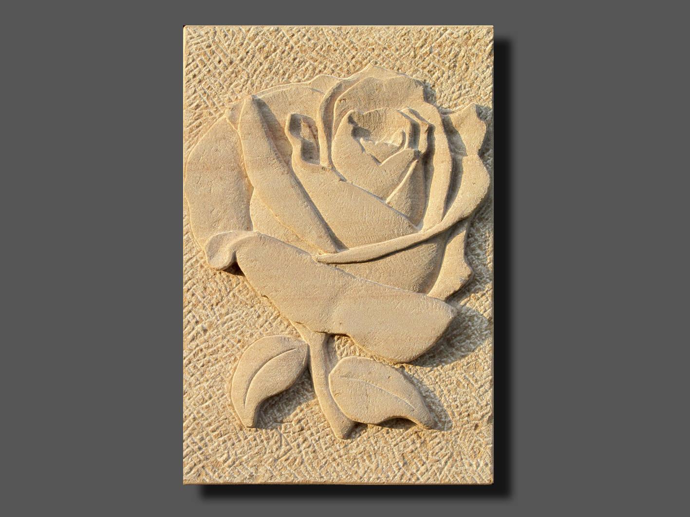 Relief Rose, Sandstein.