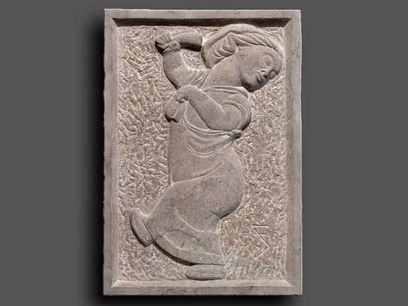Relief Tänzerin, nach Kleinplastik, ägyptisch
