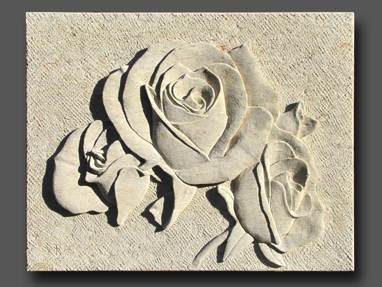 Relief Rosen, Cottaer Sandstein