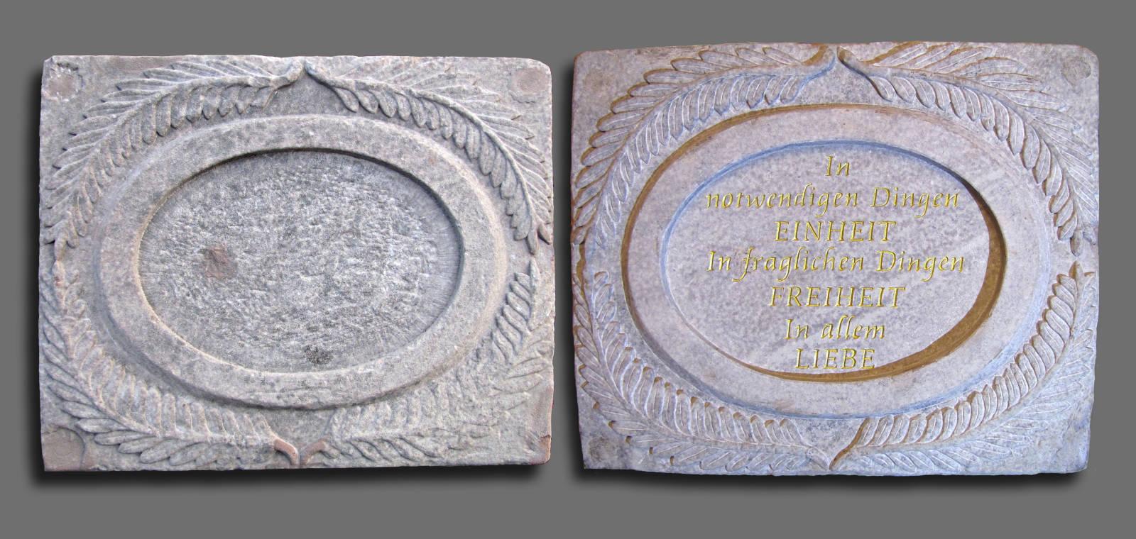 Restaurierung Reliefplatte