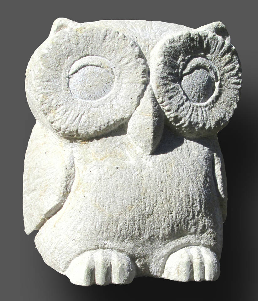 Skulptur Eule