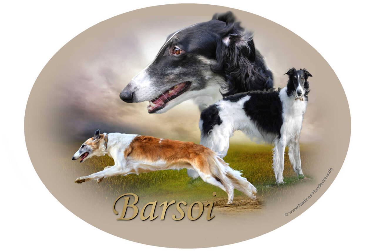 Aufkleber Barsoi Nadine's Hundedress