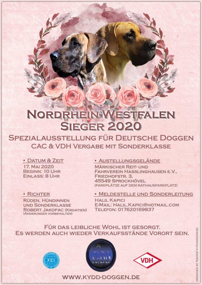 Flyer Ausstellung Nadine's Hundedress