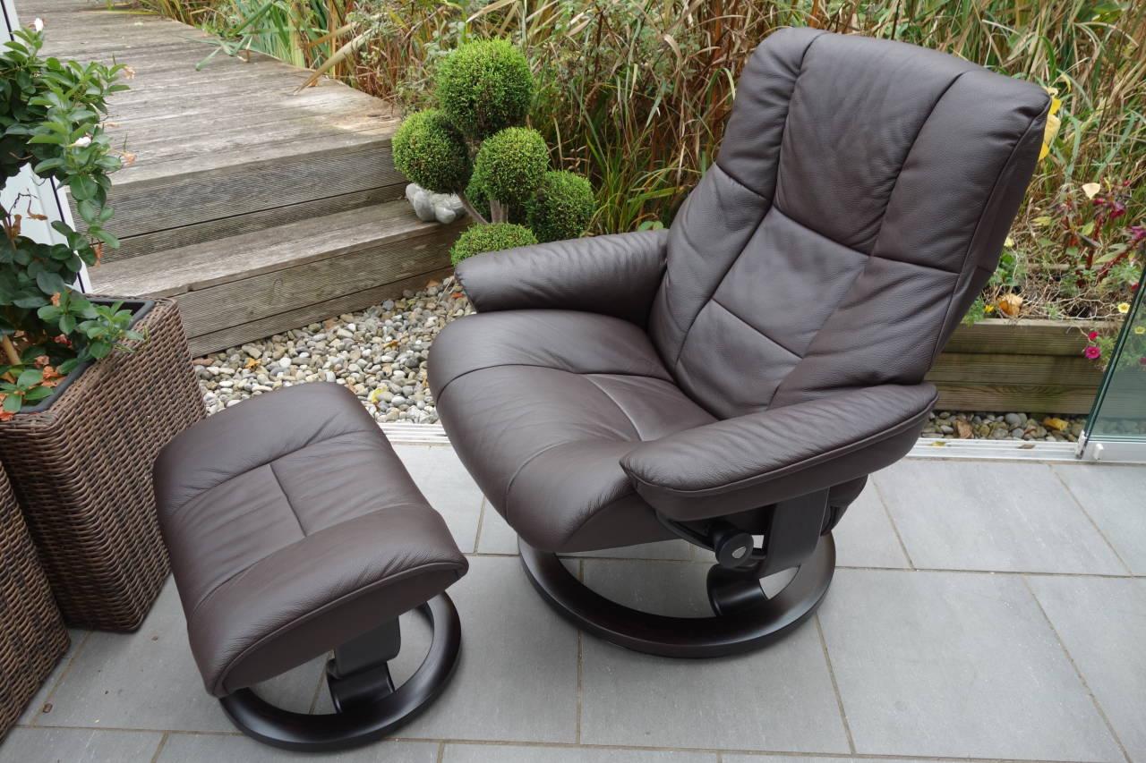 stressless sessel mayfair l mit hocker gebraucht. Black Bedroom Furniture Sets. Home Design Ideas