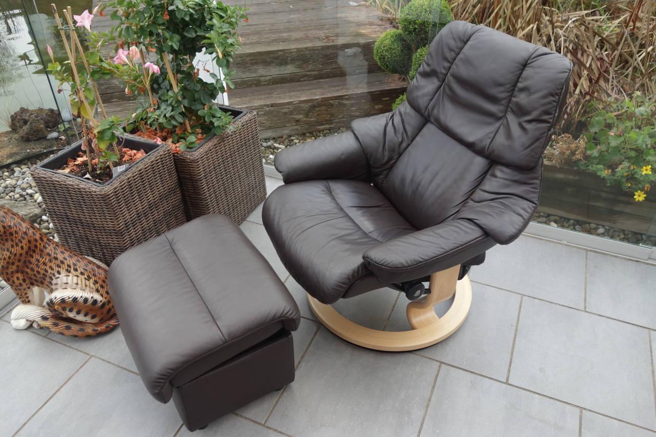 Stressless Sessel Reno M Mit Hocker Gebraucht