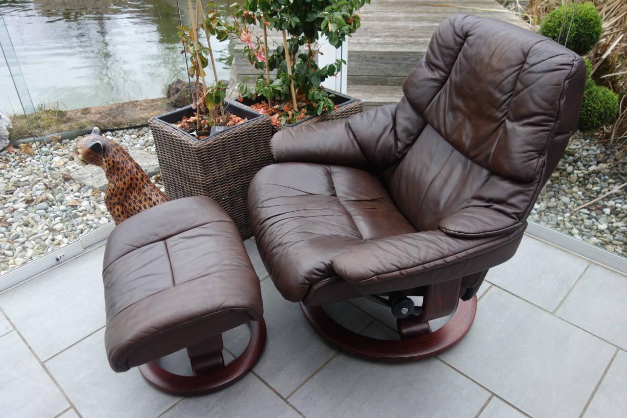 Stressless Sessel Reno L Mit Hocker Gebraucht