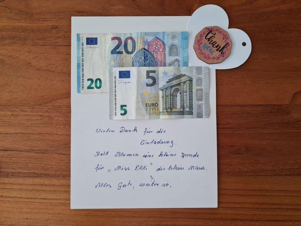 Spende von Toffee's Oma Ingrid